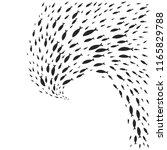 vector spiral shoal of black... | Shutterstock .eps vector #1165829788