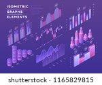 vector isometric set of charts... | Shutterstock .eps vector #1165829815