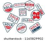vector retro shabby stamps in... | Shutterstock .eps vector #1165829902