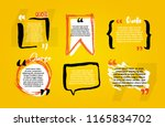 quote blanks with text bubble... | Shutterstock .eps vector #1165834702
