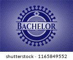 bachelor with jean texture | Shutterstock .eps vector #1165849552