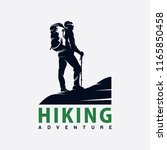 hiking logo design | Shutterstock .eps vector #1165850458