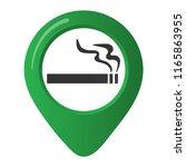 smoking area marker map pin... | Shutterstock .eps vector #1165863955