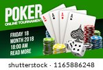 illustration online poker... | Shutterstock .eps vector #1165886248