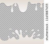 yogurt creamy liquid.... | Shutterstock .eps vector #1165887655