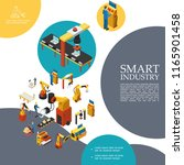 isometric smart industry...   Shutterstock .eps vector #1165901458