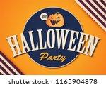 happy halloween vintage design... | Shutterstock .eps vector #1165904878