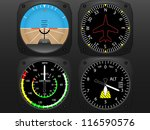 airplane flying instruments ... | Shutterstock . vector #116590576