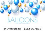 blue  silver and gold realistic ... | Shutterstock .eps vector #1165907818