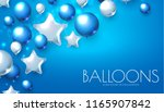 blue and silver realistic... | Shutterstock .eps vector #1165907842