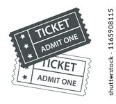 two cinema tickets black and... | Shutterstock . vector #1165908115