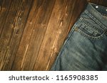 frayed jeans or blue jeans... | Shutterstock . vector #1165908385