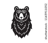 bear head sketch vector. hand... | Shutterstock .eps vector #1165911052