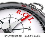 Roi Red Word On Concept Compass ...