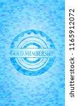gold membership light blue... | Shutterstock .eps vector #1165912072