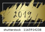 2019 happy new year. gold... | Shutterstock .eps vector #1165914238