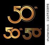 50th years anniversary | Shutterstock .eps vector #1165920898