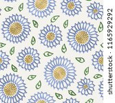 embroidery floral seamless... | Shutterstock .eps vector #1165929292