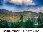 the landscape on the carpathian ... | Shutterstock . vector #1165942465