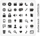 36  new black icons   Shutterstock .eps vector #116595136