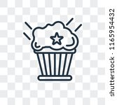 muffin vector icon isolated on... | Shutterstock .eps vector #1165954432