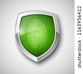 protection shield encoded... | Shutterstock .eps vector #1165956412