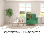 white room with armchair and... | Shutterstock . vector #1165958995