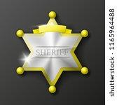 wild west sheriff metal gold... | Shutterstock .eps vector #1165964488