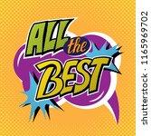 all the best banner in  pop art ... | Shutterstock .eps vector #1165969702
