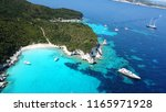 aerial drone photo of tropical... | Shutterstock . vector #1165971928
