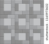 3d brick stone pavement  gray... | Shutterstock .eps vector #1165973632