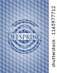offspring blue polygonal emblem. | Shutterstock .eps vector #1165977712