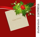 the holiday background with... | Shutterstock .eps vector #116598016