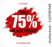 black friday sale inscription... | Shutterstock .eps vector #1165980568