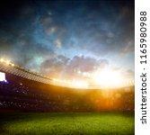 evening stadium arena soccer... | Shutterstock . vector #1165980988