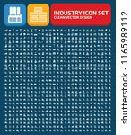 industry vector icon set | Shutterstock .eps vector #1165989112