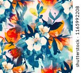 watercolour floral seamless... | Shutterstock . vector #1165992208