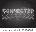 connected text hand drawn with...   Shutterstock .eps vector #1165998502