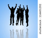 business winning team | Shutterstock .eps vector #116601202