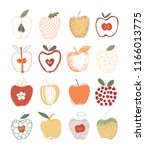 colorful collection of hand... | Shutterstock .eps vector #1166013775