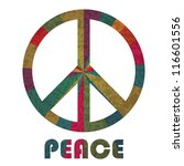 peace symbol and text... | Shutterstock .eps vector #116601556
