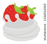 strawberry tart with the... | Shutterstock .eps vector #1166016565