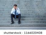 portrait of desperate... | Shutterstock . vector #1166020408