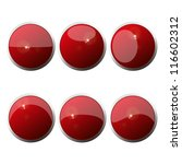set of  web color round buttons.... | Shutterstock .eps vector #116602312