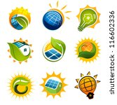 set of solar technology vector... | Shutterstock .eps vector #116602336