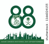 saudi arabia independence day.... | Shutterstock .eps vector #1166024155