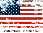 usa flag snowflake background | Shutterstock . vector #1166026468