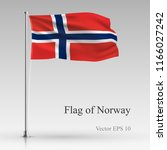 national flag of norway... | Shutterstock .eps vector #1166027242