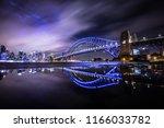 harbour bridge  vivid festival... | Shutterstock . vector #1166033782
