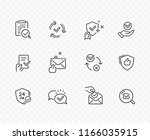 check mark line icons isolated... | Shutterstock .eps vector #1166035915